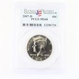 Certified 2007-D U.S. Kennedy half dollar