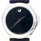 Authentic like-new Movado Museum stainless steel wristwatch