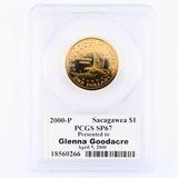 Certified 2000-P U.S. Glenna Goodacre presentation Sacagawea dollar