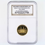 Certified 2006-S U.S. San Francisco Old Mint U.S. Congress commemorative $5 gold coin