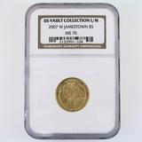 Certified 2007-W U.S. Jamestown commemorative $5 gold coin