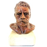 Hollow bronze bust of Mexican Revolution leader Emiliano Zapata
