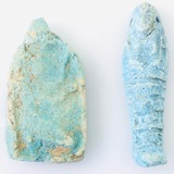 Pair of authentic ancient Egyptian faience amulet talismans