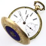 Antique 19th century Swiss Jules Perrenoud model 5092 key-wind, key-set covered pocket watch