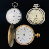 Lot of 3 estate pocket watches