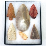 Collection of 6 Kerrville, Texas-area arrowheads