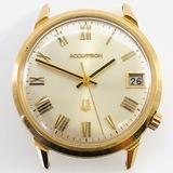 Vintage Bulova Accutron 18K yellow gold wristwatch