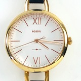 Estate Fossil Annette gold-tone stainless steel wristwatch