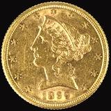 1899-S U.S. $5 Liberty head gold coin