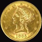 1885-S U.S. $10 Liberty head gold coin