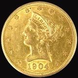 1904-O U.S. $10 Liberty head gold coin
