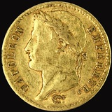 1811-W France 20 franc gold coin