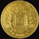 1866-BB France 50 franc gold coin
