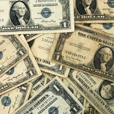 Lot of 30 average circulated 1935 U.S. silver certificate banknotes