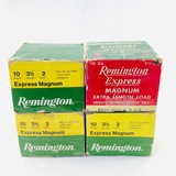 Lot of 100 rounds of boxed Remington 10 ga field & target ammo