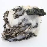 Genuine crystalline silver specimen on quartz