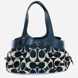 Authentic estate Coach canvas shoulder bag
