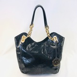 Authentic estate Michael Kors leather shoulder bag
