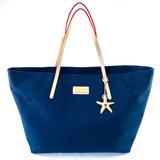 Authentic estate Lily Pulitzer canvas & leather shoulder bag