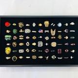 Lot of 66 estate fashion rings