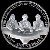 1987-Mo Mexico proof 12oz silver 200th Anniversary of the U.S. Constitution commemorative onza