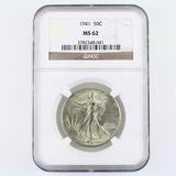 Certified 1941 U.S. walking Liberty half dollar