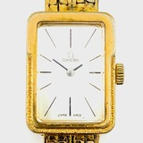 Authentic vintage Omega gold-plated stainless-steel wristwatch