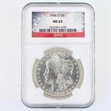 Certified 1904-O U.S. Morgan silver dollar