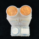 Lot of 2 uncirculated rolls of 1955-D U.S. Lincoln cents