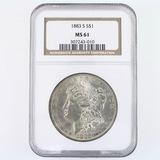 Certified 1883-S U.S. Morgan silver dollar