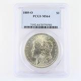 Certified 1889-O U.S. Morgan silver dollar