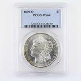 Certified 1890-O U.S. Morgan silver dollar