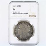 Certified 1893-S U.S. Morgan silver dollar