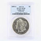 Certified 1895-S Hot 50 VAM 3 S/S California U.S. Morgan silver dollar