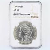 Certified 1896-O U.S. Morgan silver dollar