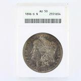 Certified 1896-S U.S. Morgan silver dollar