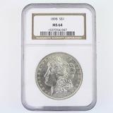 Certified 1898 U.S. Morgan silver dollar