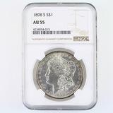 Certified 1898-S U.S. Morgan silver dollar