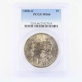 Certified 1898-O U.S. Morgan silver dollar