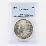 Certified 1899 U.S. Morgan silver dollar