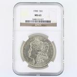 Certified 1900 U.S. Morgan silver dollar