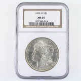 Certified 1900-O U.S. Morgan silver dollar