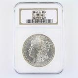 Certified 1901-S U.S. Morgan silver dollar