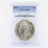 Certified 1903 U.S. Morgan silver dollar