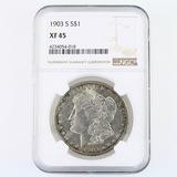 Certified 1903-S U.S. Morgan silver dollar