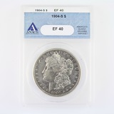 Certified 1904-S U.S. Morgan silver dollar