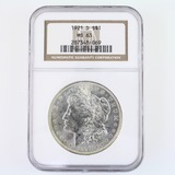Certified 1921-D U.S. Morgan silver dollar