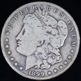 1899-S U.S. Morgan silver dollar