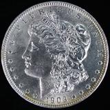 1903 U.S. Morgan silver dollar