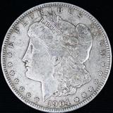 1904 U.S. Morgan silver dollar